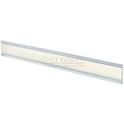 "Click here to buy Azar Displays 199606 Adhesive-Back C-Channel Nameplate, 11"" x 1.5"", Acrylic."