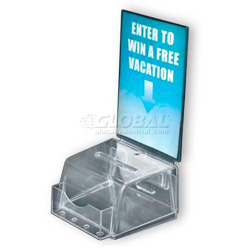"Azar Displays 206006 Small Molded Suggestion Box W/ Pocket, 5.5"" x 3.5"", Acrylic ,1 Piece by"