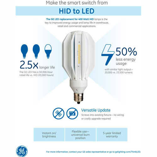 Bulbs | LED Bulbs | GE Lighting 21259 LED165/M400/740 LED