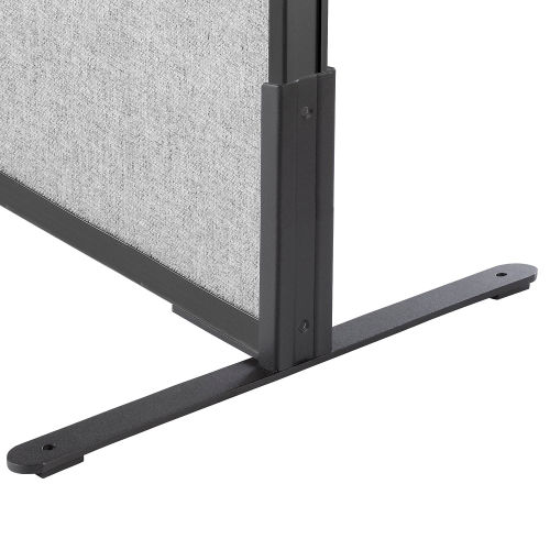 "8""H T-Leg Bracket for Office Partition Panels, Black (1 Pair) by"