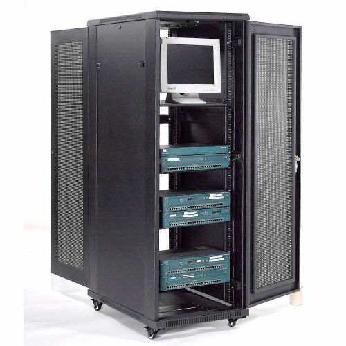Computer Furniture | Network Cabinets U0026 Server Racks | Network Server Data  Rack Enclosure Cabinet With Vented Doors, 37U, Unassembled | 239116 ...