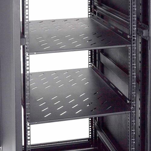 Global Industrial Vented Shelf 18 1 2 W X 28 D X 2 H Black 239117 Globalindustrial Com