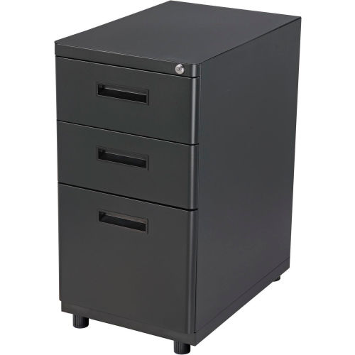 3 Drawer Pedestal Box/Box/File Black by
