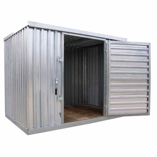 "Galvanized Steel Outdoor Storage Shed 9' 1-1/4""W x 6'5""D x 7'1""H | 240574 - GLOBALindustrial.com"
