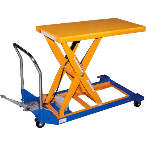 Vestil Foot Operated Mobile Scissor Lift Table CART-24-10-M 48 x 24 1000 Lb. by