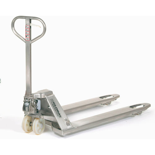 Best Value Stainless Steel Pallet Jack Truck 27 x 48 4400 Lb. Capacity by