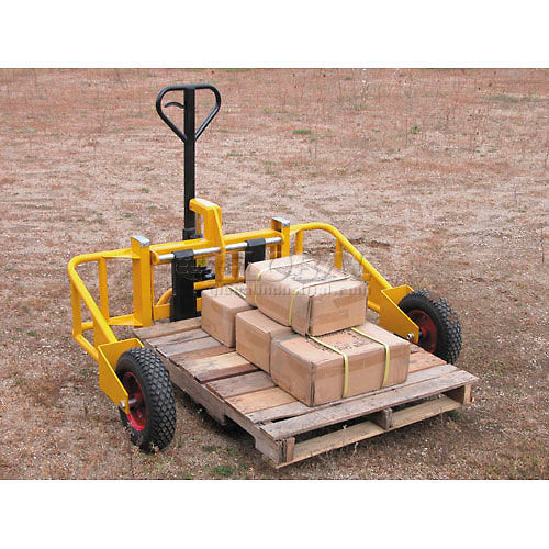 "Vestil All Terrain Pallet Jack Truck ALL-T-2 32""L Forks 2000 Lb. Capacity by"