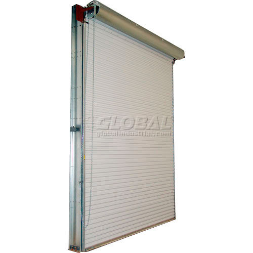 Dock Truck Equipment Dock Seals Shelters Roll Up Doors Dbci 10 X 10 White 2000 Series Roll Up Dock Door With 4 1 Reduction Drive Chain Lift 944051a Globalindustrial Com
