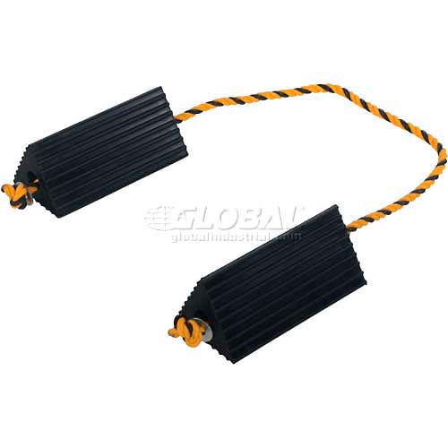 """Aircraft Wheel Chock/&Tire Chock with Poly Rope 10/""""L x 5/""""W x 4-1//2/""""H"""