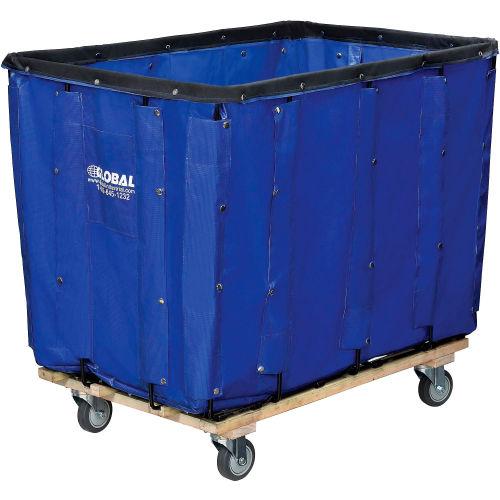 R/&B Wire Products 416SOC-YEL 16 Bushel Vinyl Basket Truck All Swivel Casters44; Yellow 41.5 x 30.25 x 39 in.