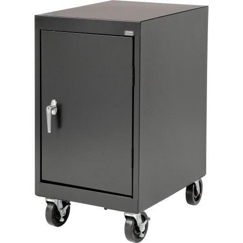 Sandusky Mobile Work Height Storage Cabinet Ta11182430 Single Door 18x24x36 Black 245128bk Globalindustrial Com