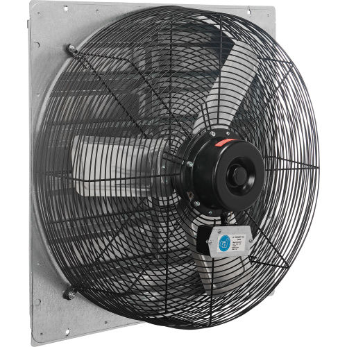 24 exhaust fan with shutter direct drive 1 4 hp single speed