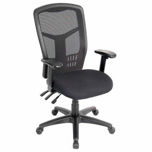 Interion Fabric Mesh Task Chair With High Back Black 248623 Globalindustrial Com