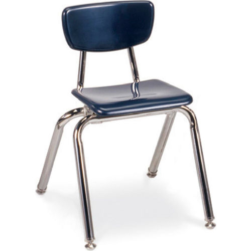 Virco 3014 Martest 21 Hard Plastic Chair Navy Package Count 4 by