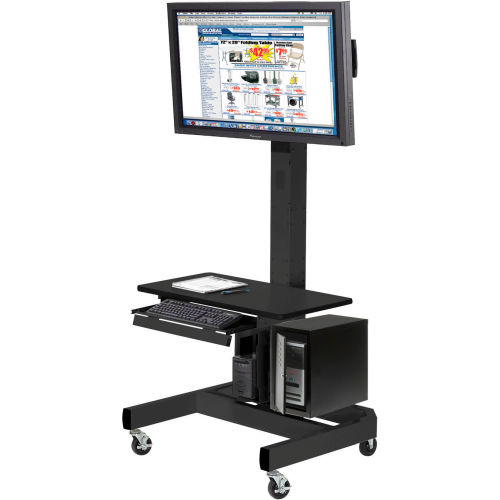 LCD/Plasma Mobile Cart Black by