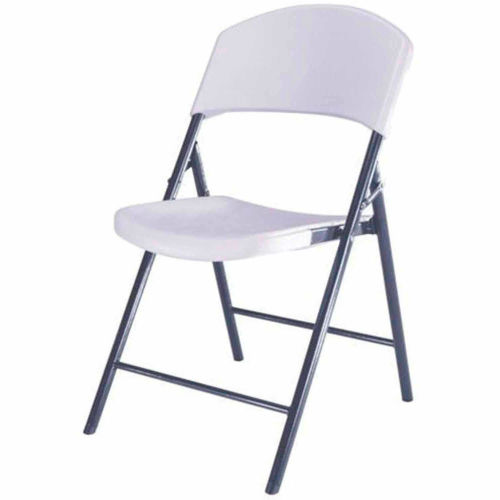 Lifetime Durastyle Folding Chair, White Granite, Pack of 4 by