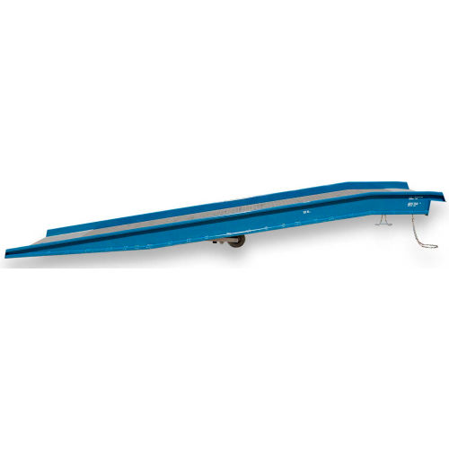 "Bluff 20SYS8436L Steel Yard Ramp Forklift Dock Ramp 36'Lx84""W 20,000 Lb. with Ramp Clamps by"