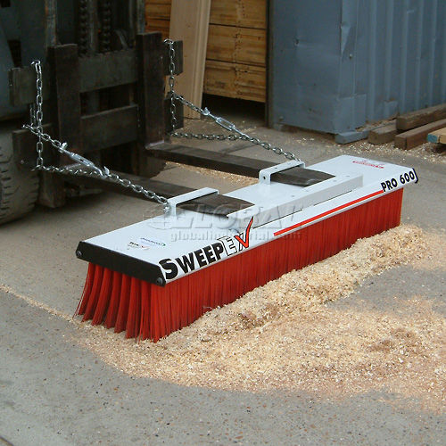 "SweepEx SPB-600 Pro-Broom Forklift Broom & Sweeper 60""W by"