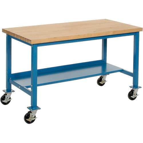 Awesome Mobile Work Bench Fixed Height 72Quotw X 36Quotd Gmtry Best Dining Table And Chair Ideas Images Gmtryco