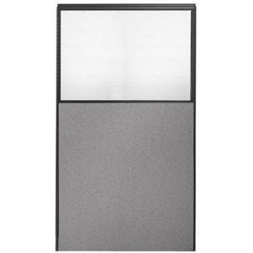"66"" H x 36"" W Partial Plexiglass Office Partition Panel by"