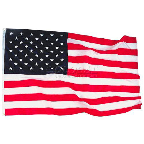 4' x 6' Bulldog Cotton US Flag with Sewn Stripes & Embroidered Stars by