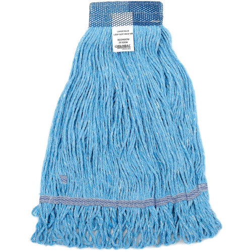 For Industrial tile M2 Professional Cotton Extra Large Looped-End Mop Replacement Head Commercial /& Home use Hardwood etc. 5 Headband Case of 12