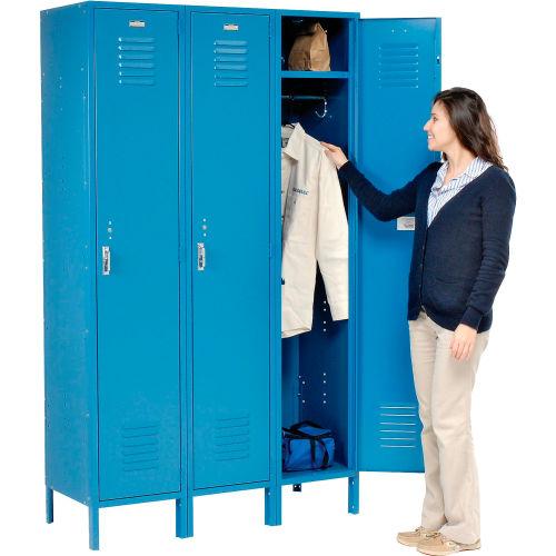 Q1R1518721-101 1 Tier 1 Wide Corridor Locker with 1 Openings 15W x 18D x 78H Khaki Unassembled