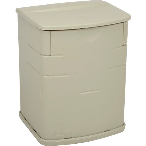 Bins Totes Containers Deck Bo Rubbermaid 3743 Outdoor Mini Box 2 6 Cubic Feet 269932 Global