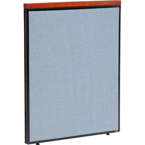 """Deluxe Office Partition Panel, 36-1/4""""W x 43-1/2""""H, Blue by"""