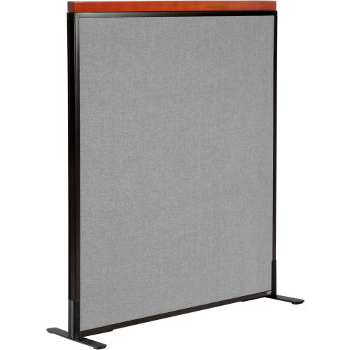 """Deluxe Freestanding Office Partition Panel, 36-1/4""""W x 43-1/2""""H, Gray by"""