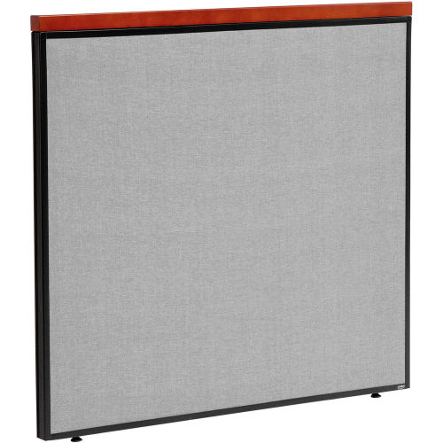 "Deluxe Office Partition Panel, 48-1/4""W x 43-1/2""H, Gray by"