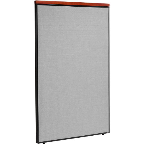 "Deluxe Office Partition Panel, 48-1/4""W x 73-1/2""H, Gray by"