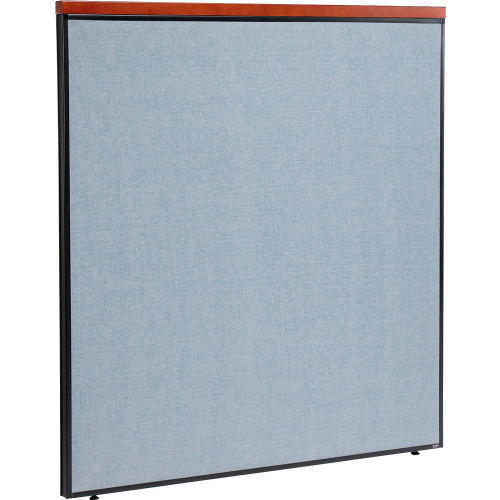 "Deluxe Office Partition Panel, 60-1/4""W x 61-1/2""H, Blue by"