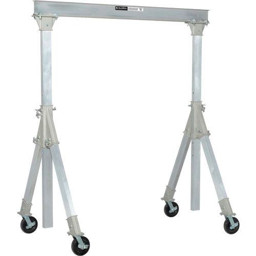 Global IndustrialAluminum Gantry Crane KD, Adj. Height, 2000lb Load Cap, I Beam Width 10ft by
