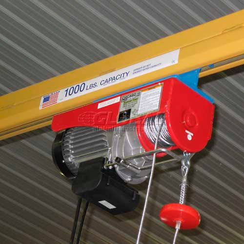 Hoists & Cranes | Cranes-Floor & Jib | Powered Wire Rope Winch 1000
