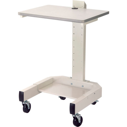 """Mobile Computer Cart, 27""""W x 24-1/2""""D x 41""""H, Beige by"""