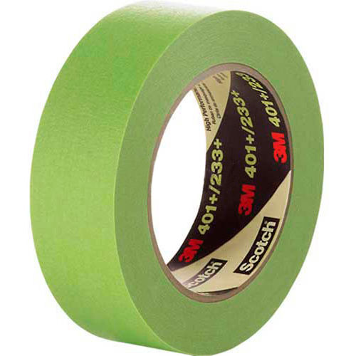 """3M Masking Tape 401+ .095""""W x 60.15 Yards Green Package Count 24 by"""
