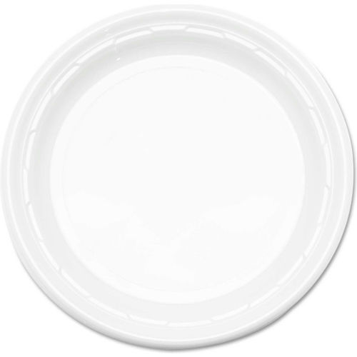 Plastic Plates, 6 Inches, White, Round, 1000 ct by
