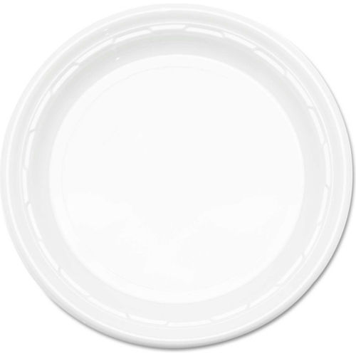 Plastic Plates, 9 Inches, White, Round, 500 ct by
