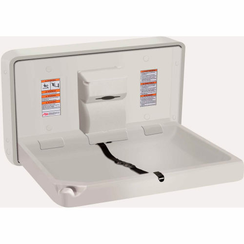 ASI Horizontal Plastic Baby Changing Station, Light Gray 9014 by
