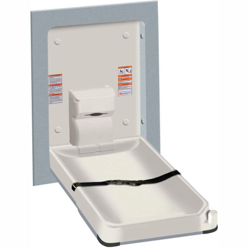 ASI Vertical Stainless Steel/Plastic Baby Changing Station, Light Gray 9017 by