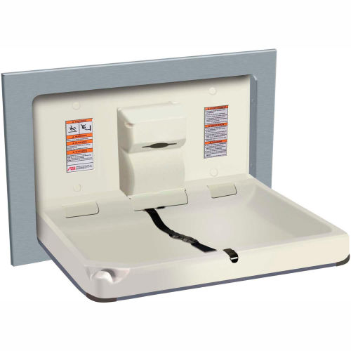 ASI Horizontal Stainless Steel/Plastic Baby Changing Station, Light Gray 9018 by