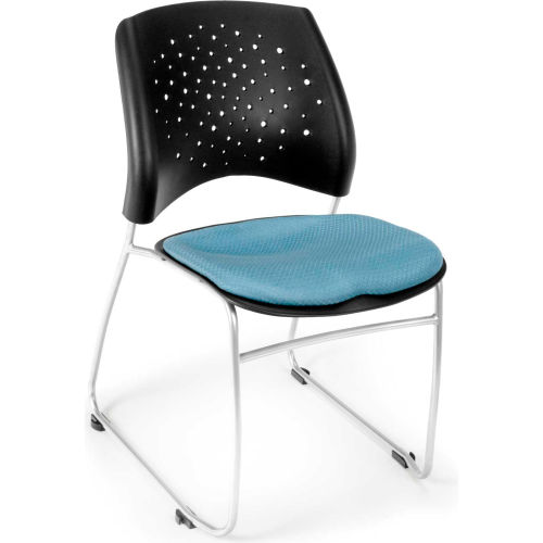 Ofm Stars Fabric Stack Chair, Cornflower Blue Pkg Count 4 by