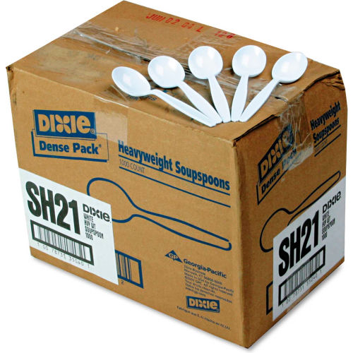 Heavyweight Plastic Soup Spoons, 1000 per Carton by