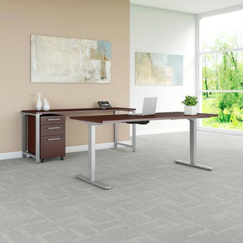 """Bush Furniture 72""""W Height Adjustable Desk/Credenza/Storage Harvest Cherry 400 Series by"""