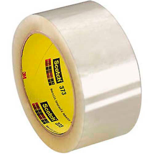 "3M Scotch 373 Carton Sealing Tape 2"" x 55 Yds. 2.5 Mil Clear Package Count 36 by"