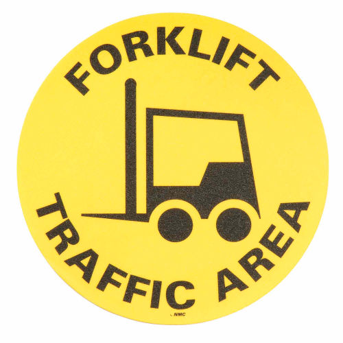 Floor Signs Forklift Traffic Area by