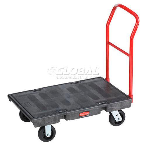 Rubbermaid FG440600BLA Plastic Deck Platform Truck 36 x 24 2000 Lb. Capacity by