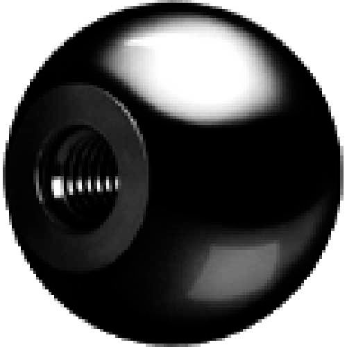 J.W. Winco DIN319-PL Phenolic W/Brass Insert Ball Knobs Tapped 16mm Diameter mm Length... by