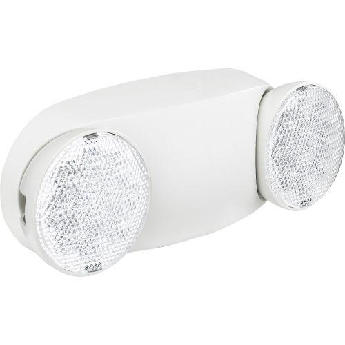 Global Industrial 2 Head Round Led Emergency Light W Adjustable Optics Ni Cad Battery Backup 500780 Globalindustrial Com